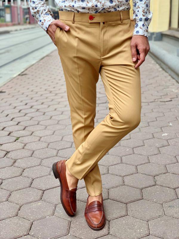 Мужские брюки зауженные к низу. Арт.:6-1014-3