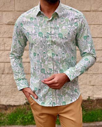 Мужская рубашка с рисунком. Арт.:5-1020-26