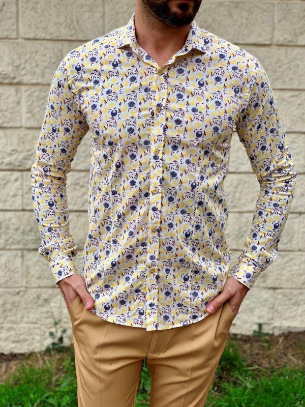 Мужская рубашка с лимонами. Арт.:5-1021-8