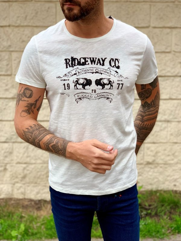 Мужская белая футболка. Арт.:16-005