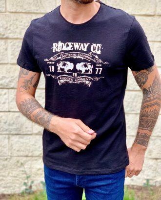 Черная футболка с принтом. Арт.:16-008