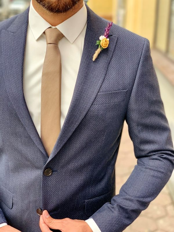 Мужской костюм-двойка синего цвета. Арт.:4-1002-8