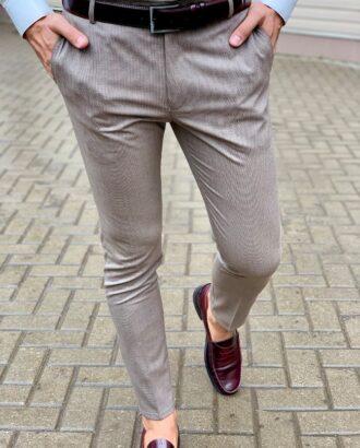 Молодежные брюки серого цвета. Арт.:6-1034-3