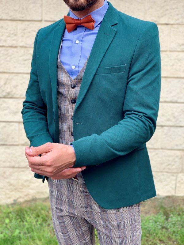 Мужской зеленый пиджак. Арт.:2-1042-2