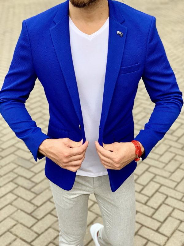 Синий мужской пиджак. Арт.:2-1043-1