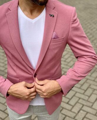 Розовый мужской пиджак. Арт.:2-1044-1