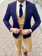 Мужской фиолетовый пиджак. Арт.:2-1028-1