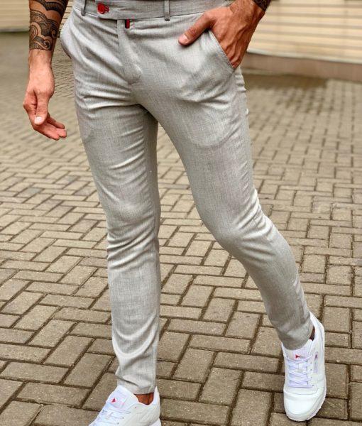 Стильные мужские серые брюки. Арт.:6-1044-3