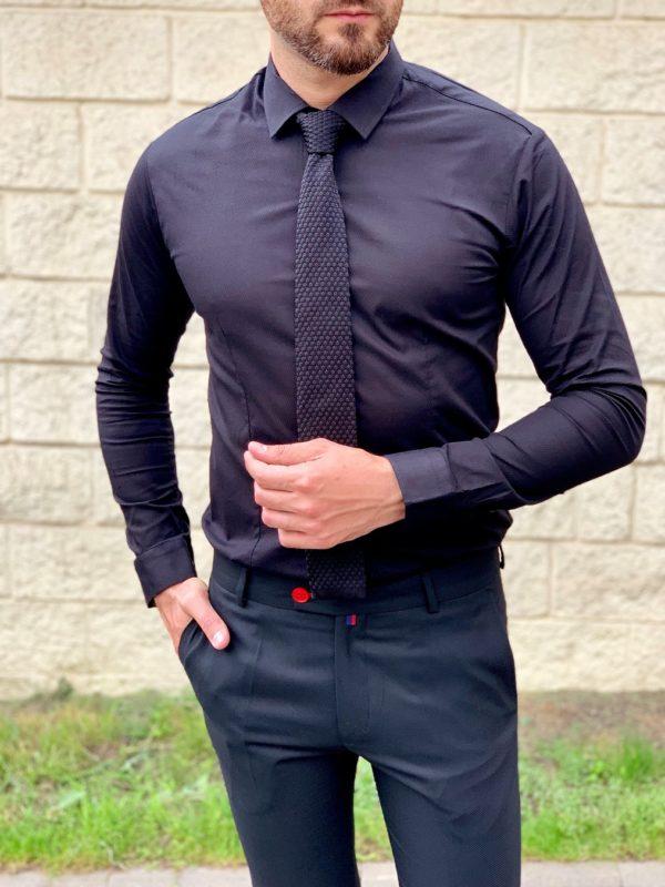 Рубашка super slim черного цвета. Арт.:5-1046-8