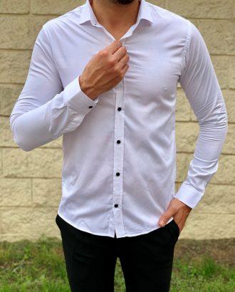 Белая мужская рубашка супер слим. Арт.:4-1048-8