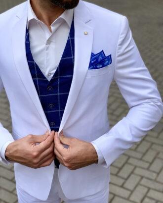 Мужской белый пиджак. Арт.:2-1049-2