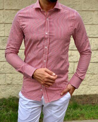 Красная рубашка в полоску. Арт.:4-1049-3
