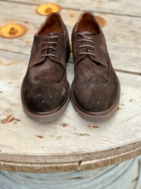 Мужские броги коричневого цвета. Арт.:14-1003