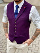 Мужская жилетка в фиолетовом цвете. Арт.:3-1029-3