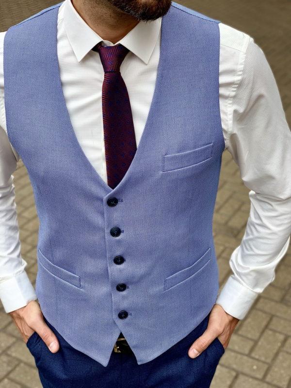 Мужская жилетка в оттенке синего. Арт.:3-1031-3