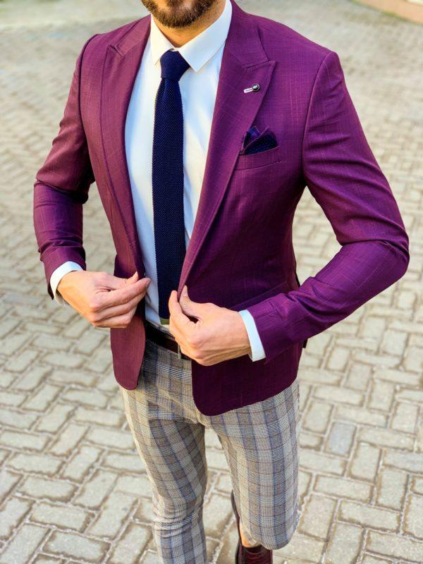 Мужской пиджак фиолетового цвета. Арт.:2-1113-5