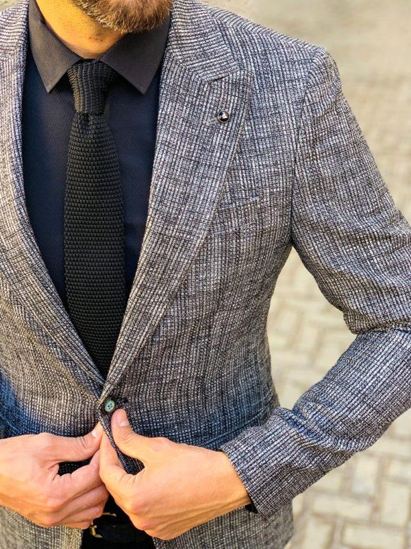 Мужской пиджак серого цвета. Арт.:2-1103-5