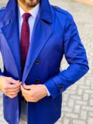 Синий мужской тренчкот. Арт.:1-1109-5