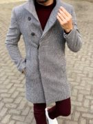 Стильное пальто светлого цвета. Арт.: 1-1134-2