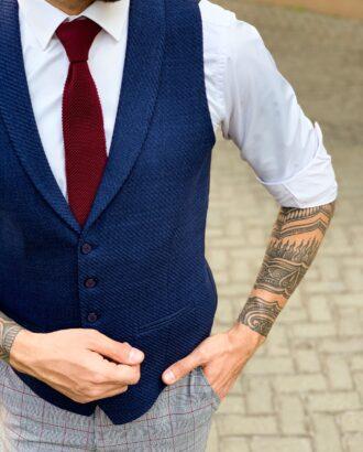 Классический  синий жилет. Арт.: 3-1129-5