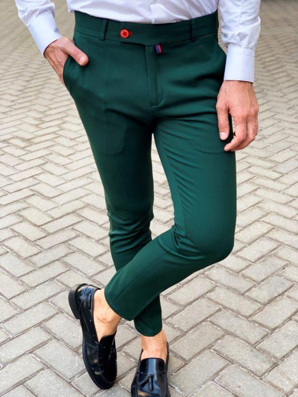 Зеленые мужские брюки. Арт.: 6-1128-30