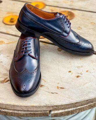 Модная мужская обувь синего-цвета. Арт.: 14-1105