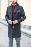 Молодежное пальто черного цвета. Арт.:1-1204-2