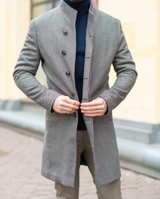 Молодежное пальто светлого цвета. Арт.:1-1210-3