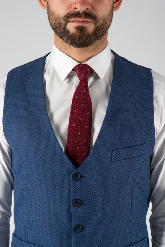 Модный мужской синий жилет. Арт.:3-1211-3