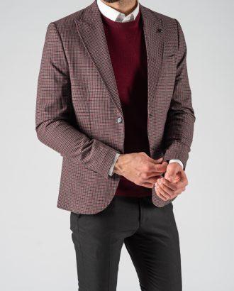 Мужской пиджак винного цвета. Арт.:2-1212-8