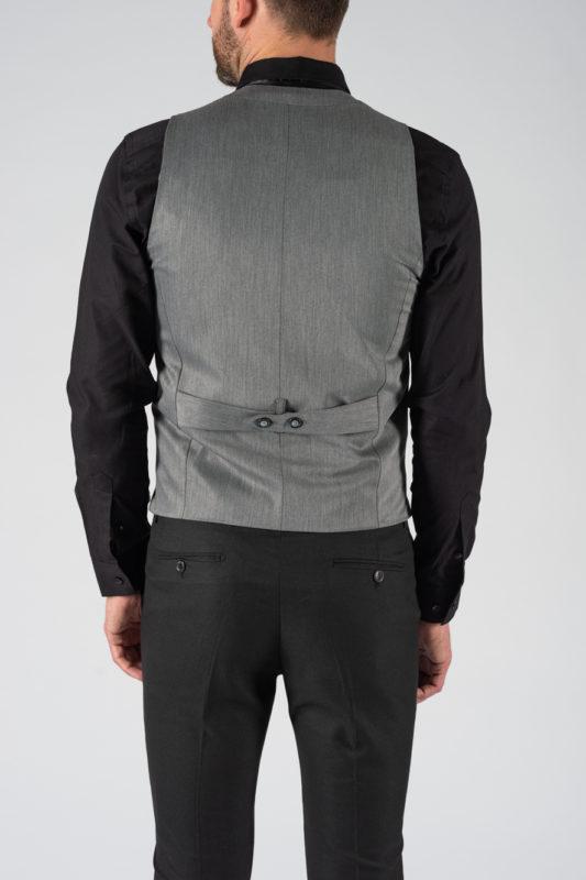 Классический серый мужской жилет. Арт.:3-1213-5