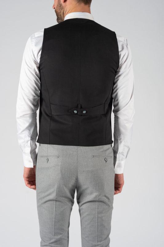 Мужской классический жилет черного цвета. Арт.:3-1214-5