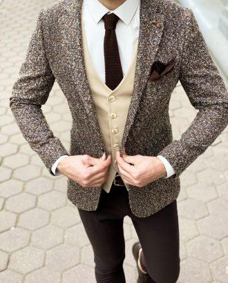 Приталенный пиджак темного цвета. Арт.:2-616-3