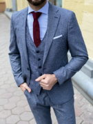Мужское пальто серого цвета. Арт.:1-1265-3
