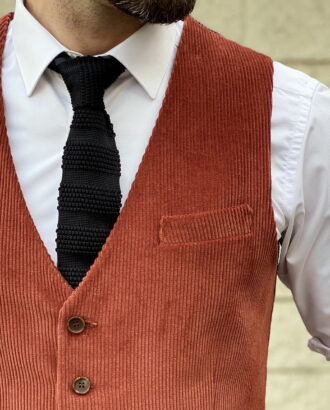 Мужская жилетка терракотового цвета. Арт.: 3-1253-3