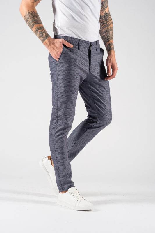Мужские брюки синего цвета. Арт.:6-1226-30