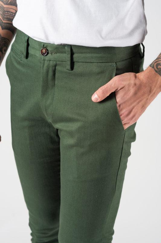 Зеленые мужские брюки. Арт.:6-1227-2