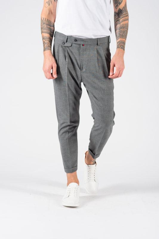 Стильные мужские брюки в клетку. Арт.:6-1229-3