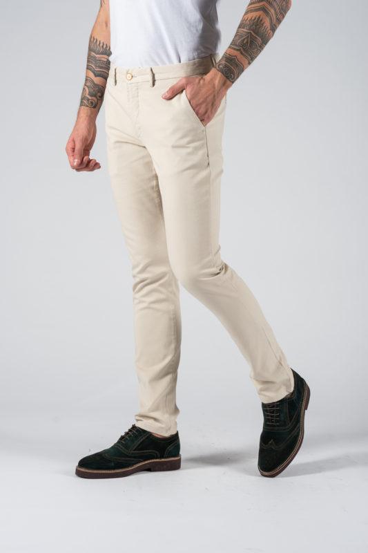 Кэжуал брюки бежевого цвета. Арт.:6-1234-2