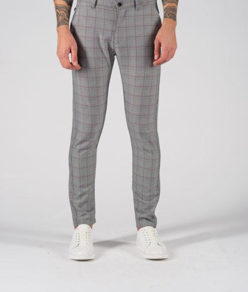 Зауженные мужские брюки в клетку. Арт.:6-1236-30