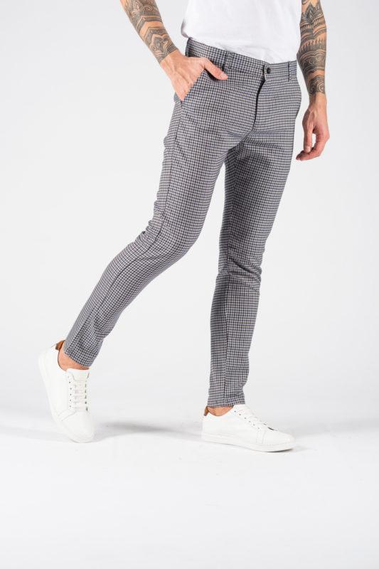 Укороченные мужские брюки в мелкую клетку. Арт.:6-1237-30