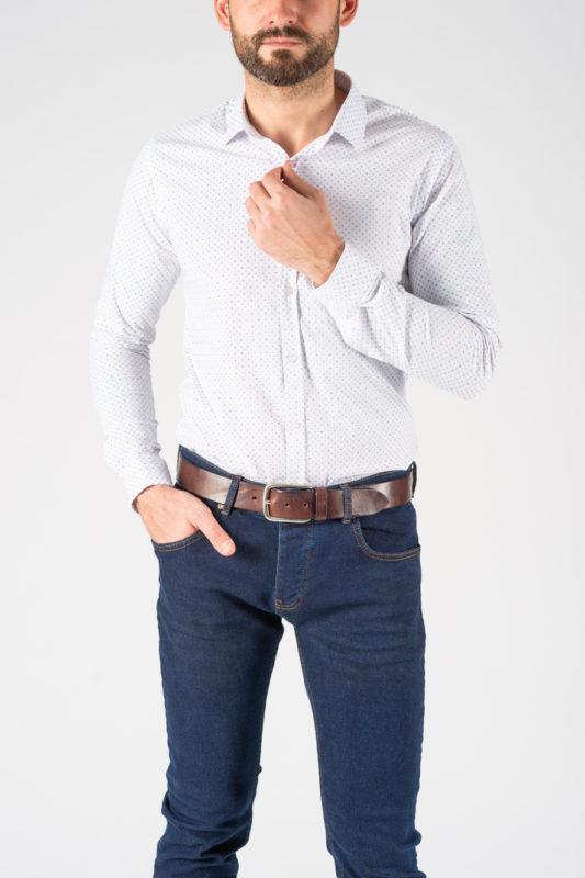 Рубашка в мелкую разноцветную звездочку. Арт.:5-1240-8
