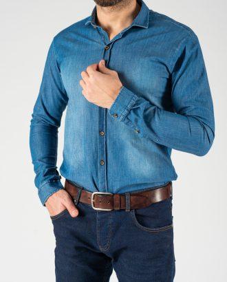 Джинсовая рубашка синего цвета. Арт.:5-1242-8