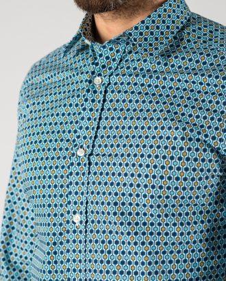 Рубашка с узорчатым разноцветным принтом. Арт.:5-1245-3
