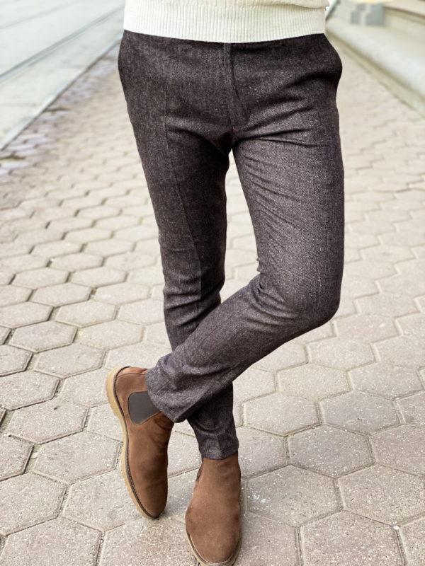 Мужские брюки серого цвета. Арт.:6-1310-3