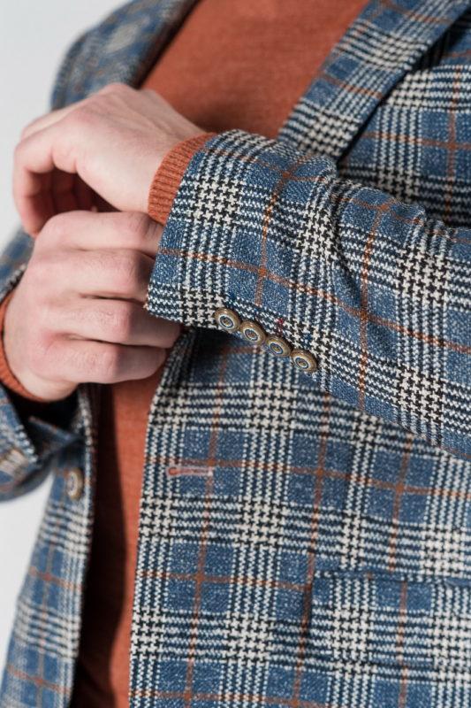 Мужской пиджак в терракотовую клетку. Арт.:2-1321-5