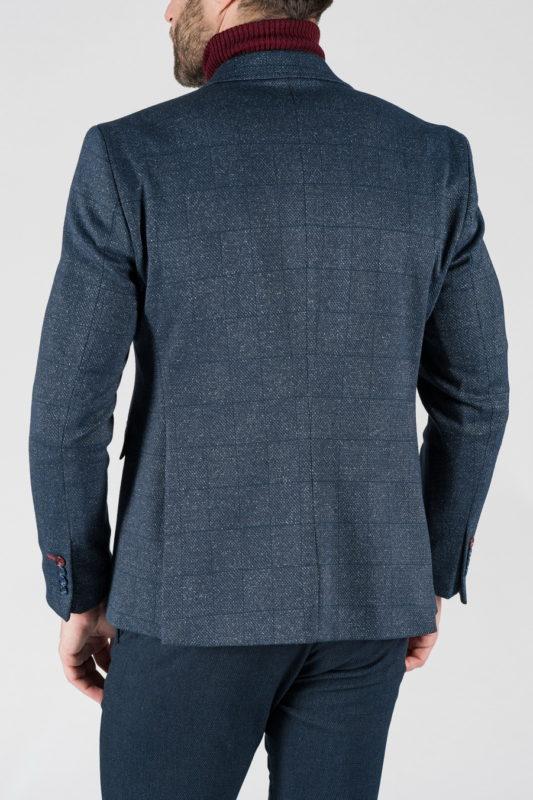 Синий мужской пиджак в клетку. Арт.:2-1322-22