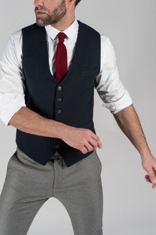 Классический мужской жилет синего цвета. Арт.:3-1323-10