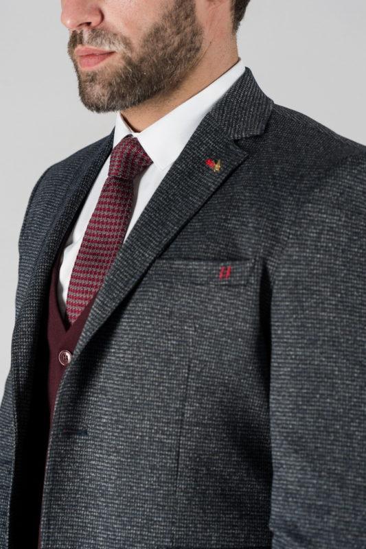 Мужской серый пиджак на каждый день. Арт.:2-1324-22