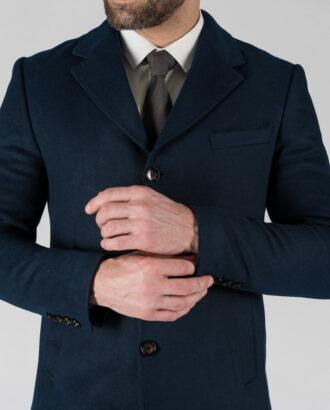 Мужское зимнее пальто синего цвета. Арт.: 1-1313-10